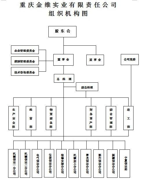 重庆金维实业有限责任公司